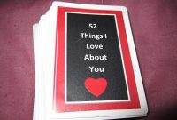 Make It Work Sam  Reasons I Love You regarding 52 Things I Love About You Cards Template