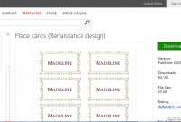 Make Wedding Planning Easier Using Microsoft Office regarding Microsoft Word Place Card Template