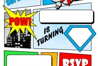 Make Your Own Comic Book Printable  Superhero Comic Book Party in Superman Birthday Card Template