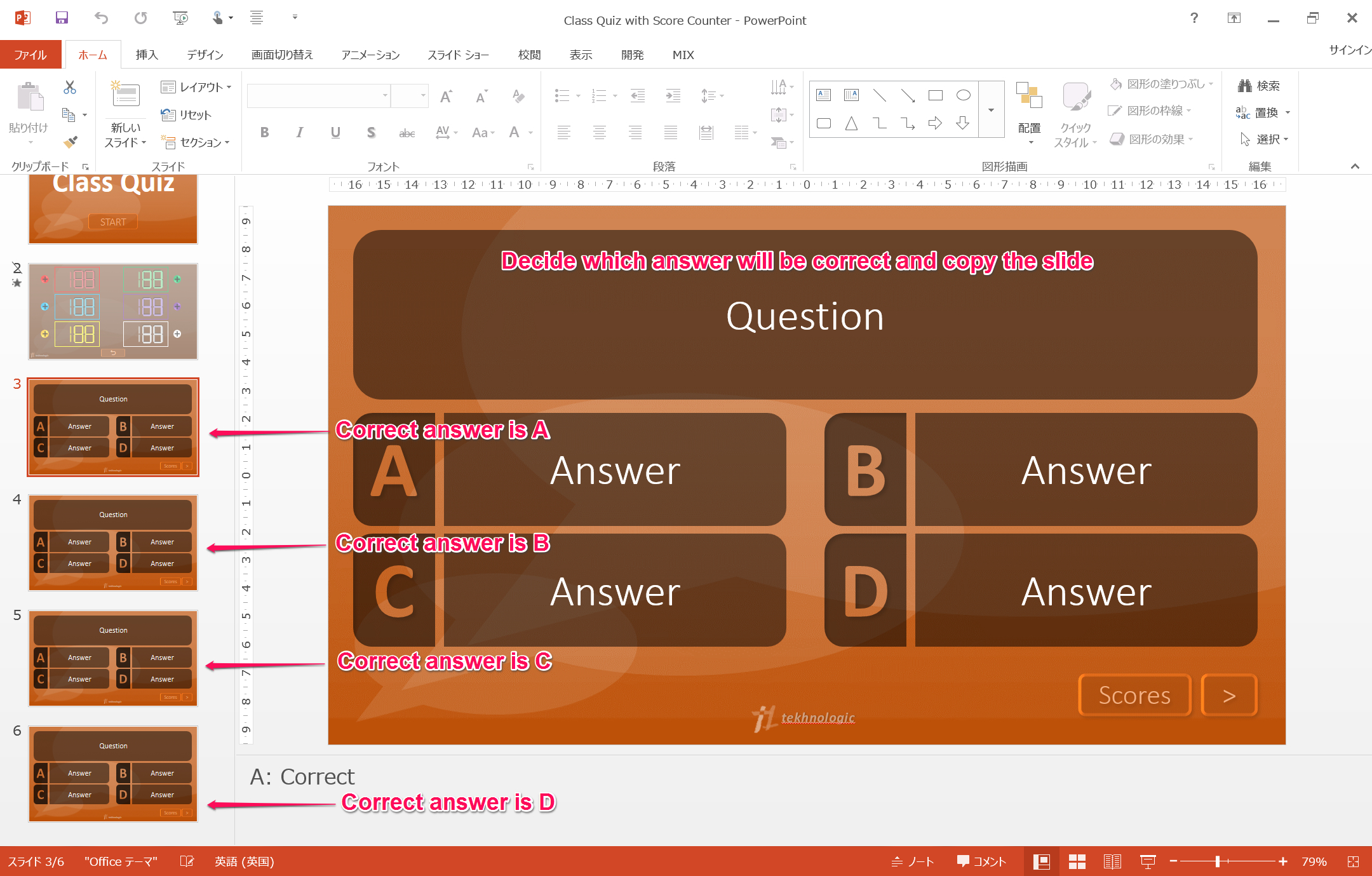 Make Your Own Quiz Part  Adding A Score Board – Tekhnologic Inside Powerpoint Quiz Template Free Download