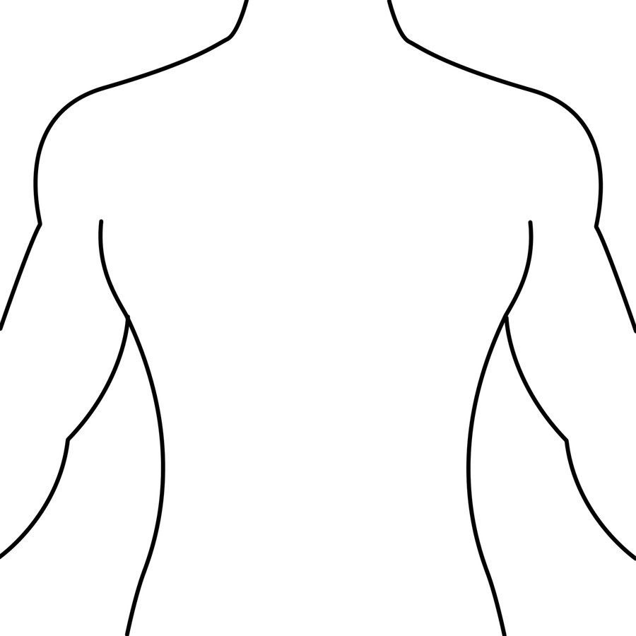 Male Body Drawing Template  Free Download Best Male Body Drawing Intended For Blank Body Map Template