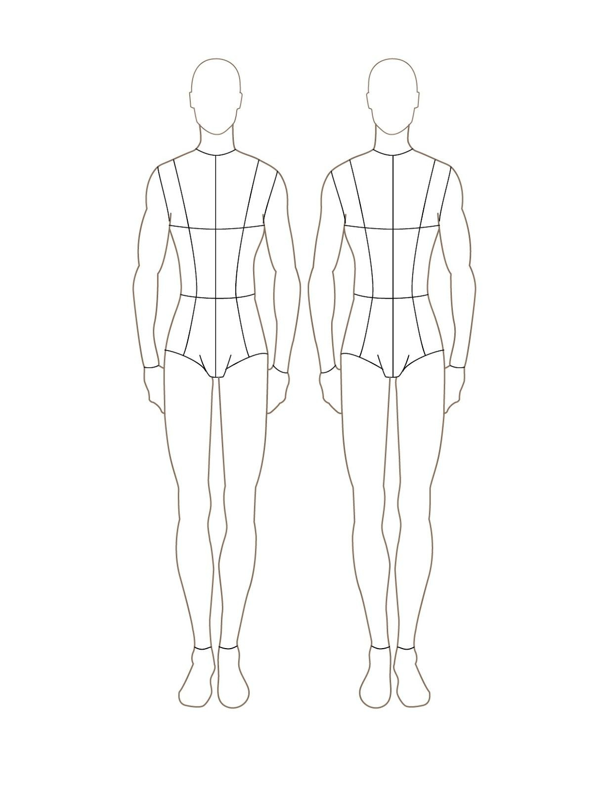 Mannequin Drawing Template  Croqui Fashion Model Templates Throughout Blank Model Sketch Template