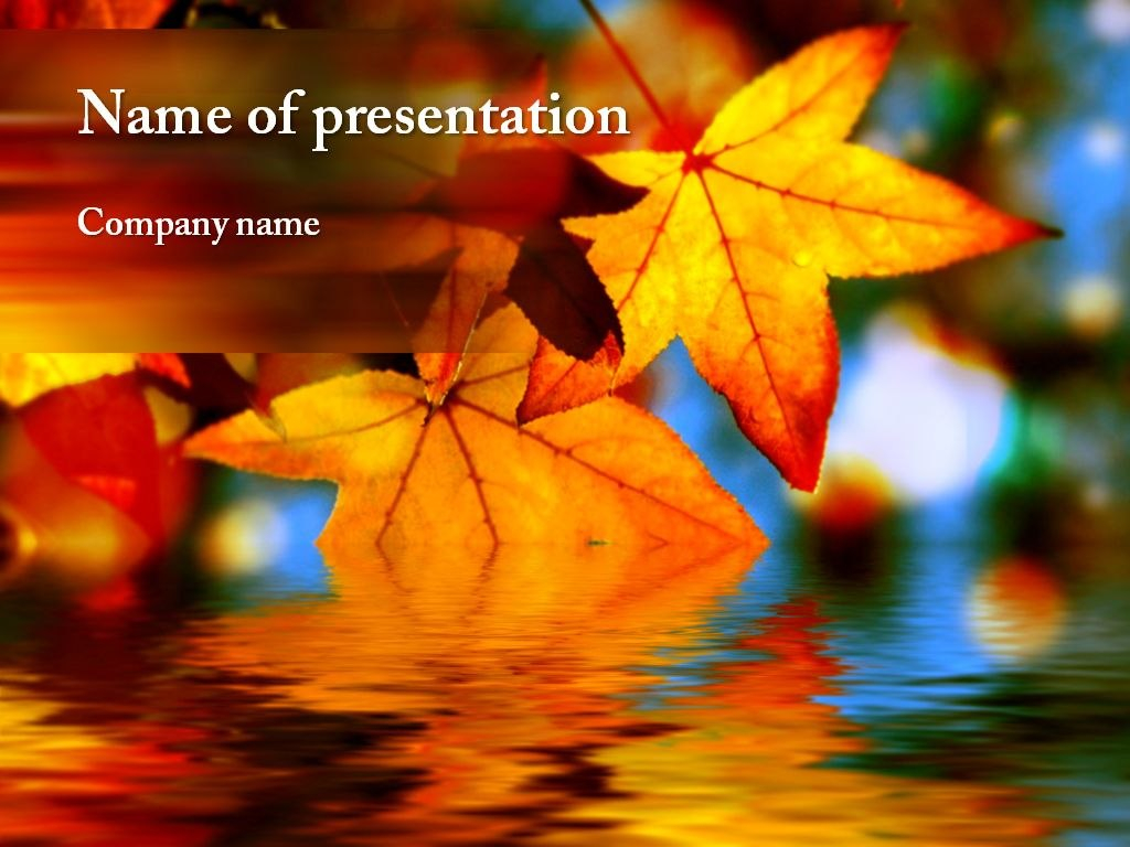 Maple Leaf Powerpoint Template  Powerpoint Templates  Powerpoint Throughout Free Fall Powerpoint Templates