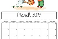 March  Printable Calendar For Kids   March  Calendars for Blank Calendar Template For Kids