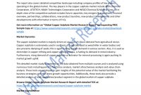 Market Arch Report Sample Pdf Copper Sulphate Industry Analysis regarding Research Report Sample Template