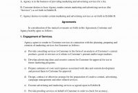 Marketing Agency Agreement Template Unique Marketing Agreement Regarding Free Advertising Agency Agreement Template