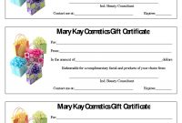 Mary Kay Certificate Seckhoffmarykay Www for Mary Kay Gift Certificate Template
