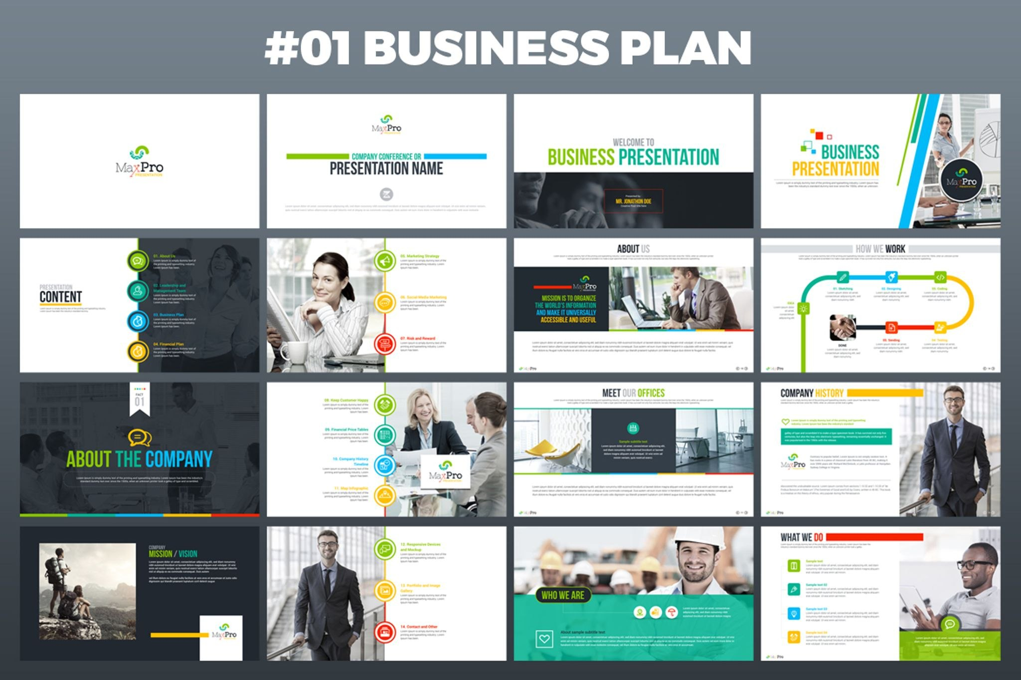 Maxpro  Business Plan Powerpoint Template In Ppt Presentation Templates For Business