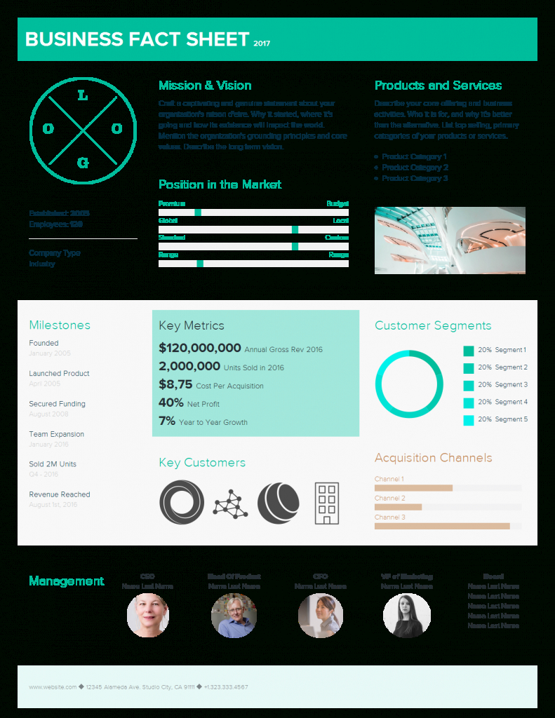 May  Product Updates Fact Sheet Template Team Space  Xtensio Pertaining To Business One Sheet Template