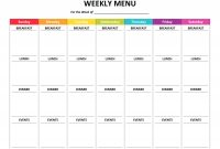 Meal Plan Template Word Weekly Menu Planner Fresh Of ~ Tinypetition within Weekly Meal Planner Template Word