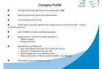 Media Company Profile Templateltg Guvmfvu  Business within Personal Business Profile Template