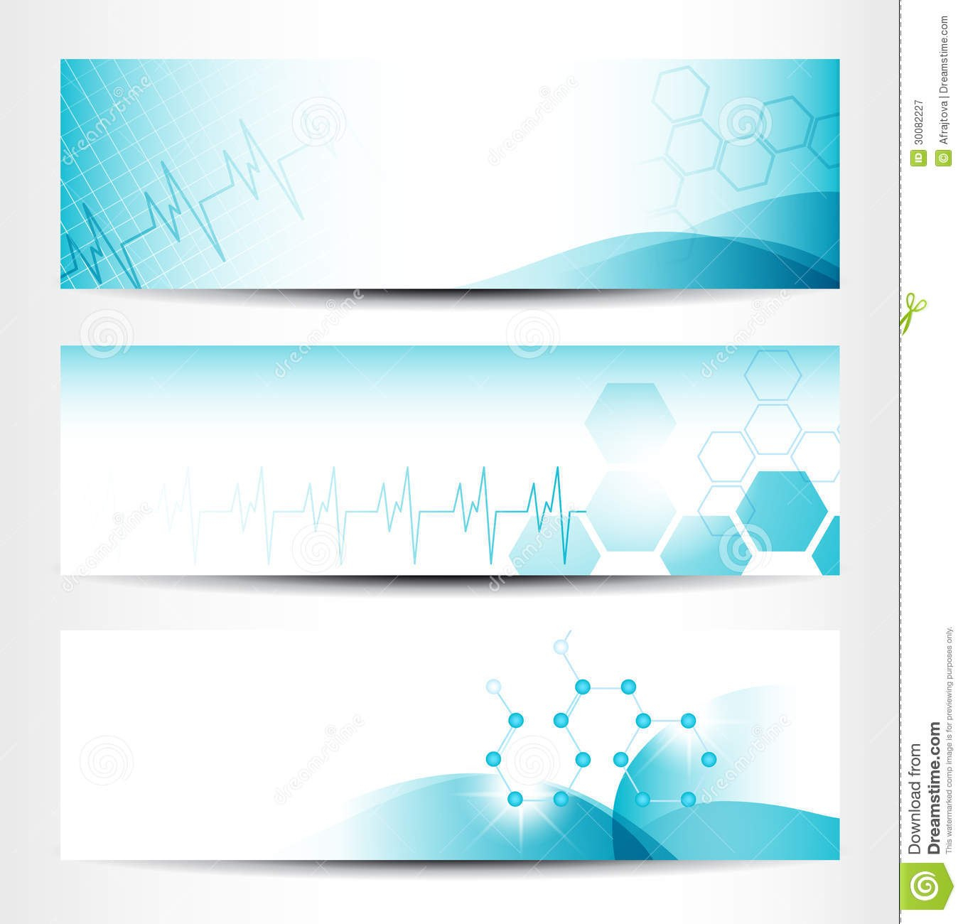 Medical Banners Stock Vector Illustration Of Beat Information With Medical Banner Template