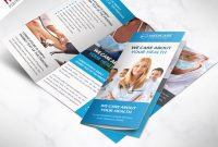 Medical Care And Hospital Trifold Brochure Template Free Psd in Brochure Psd Template 3 Fold