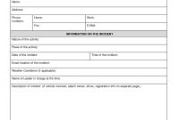 Medical Incident Report Form Template regarding Office Incident Report Template