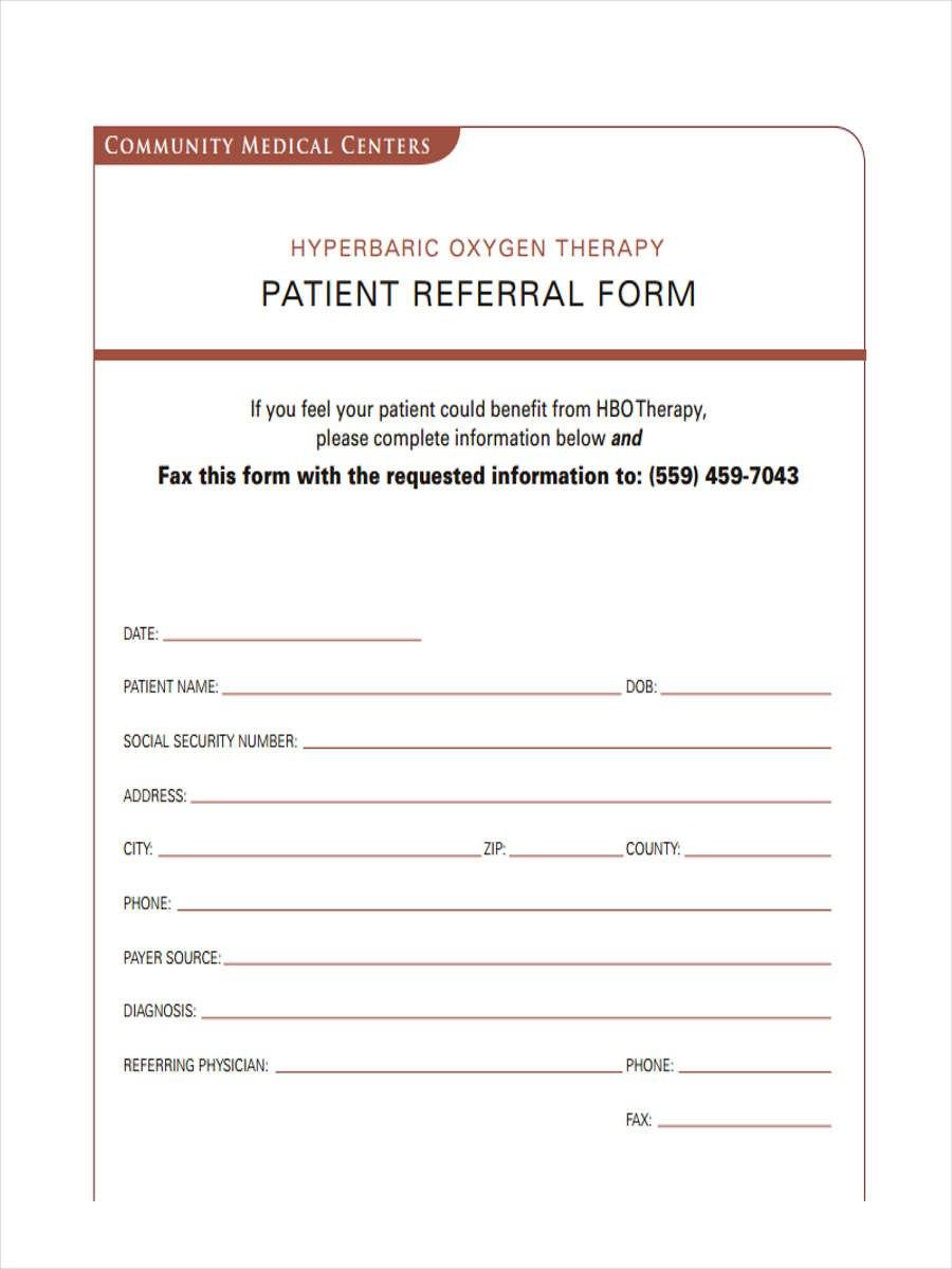 Medical Referral Form Samples  Free Sample Example Format Download Regarding Referral Certificate Template