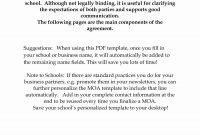 Memorandum Of Understanding Between Two Companies Pdf For Memorandum throughout Memorandum Of Agreement Between Two Companies