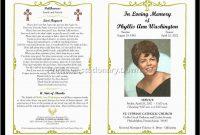 Memorial Cards For Funeral Template Free Great Free Funeral Program regarding Memorial Brochure Template