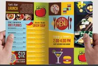 Menu  Free Psd Bifold Psd Brochure Template  Free Psd Templates pertaining to Bi Fold Menu Template