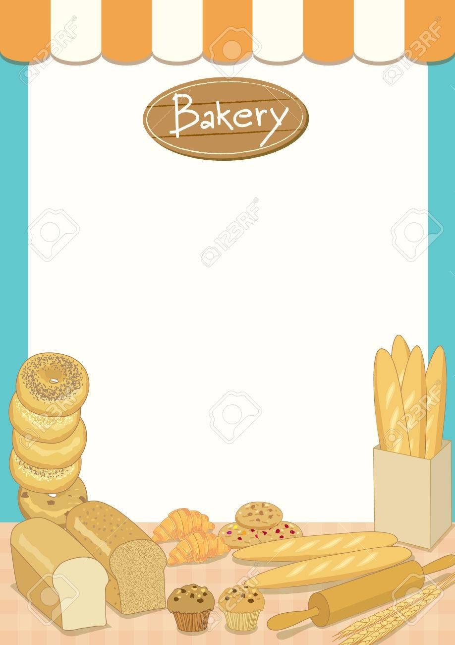 Menu Template Design Vector Illustrationbakery Cafe Shopblank Within Free Bakery Menu Templates Download