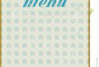 Menu Template For Diner Stock Vector Illustration Of Menu for Diner Menu Template