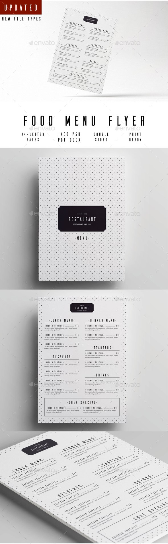 Menu Templates From Graphicriver For Menu Template Indesign Free