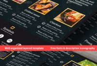 Menu Templates From Graphicriver within Menu Template Indesign Free