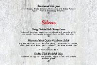 Menu Templates  Imenupro Pertaining To 4Th Of July Menu Template