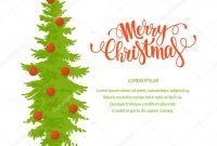Merry Christmas Banner Template — Stock Vector © Barkarola with Merry Christmas Banner Template