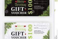 Merry Christmas Gift Voucher Certificate Template Design Stock for Merry Christmas Gift Certificate Templates