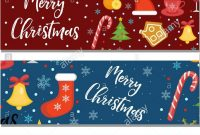 Merry Christmas Set Of Banners Template With Space For Text For with regard to Merry Christmas Banner Template