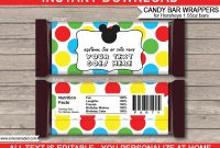 Mickey Mouse Hershey Candy Bar Wrappers  Personalized Candy Bars with regard to Candy Bar Label Template