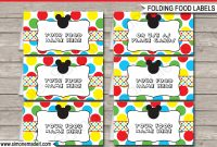 Mickey Mouse Party Food Labels  Place Cards  Mickey Mouse Theme within Butterfly Labels Templates