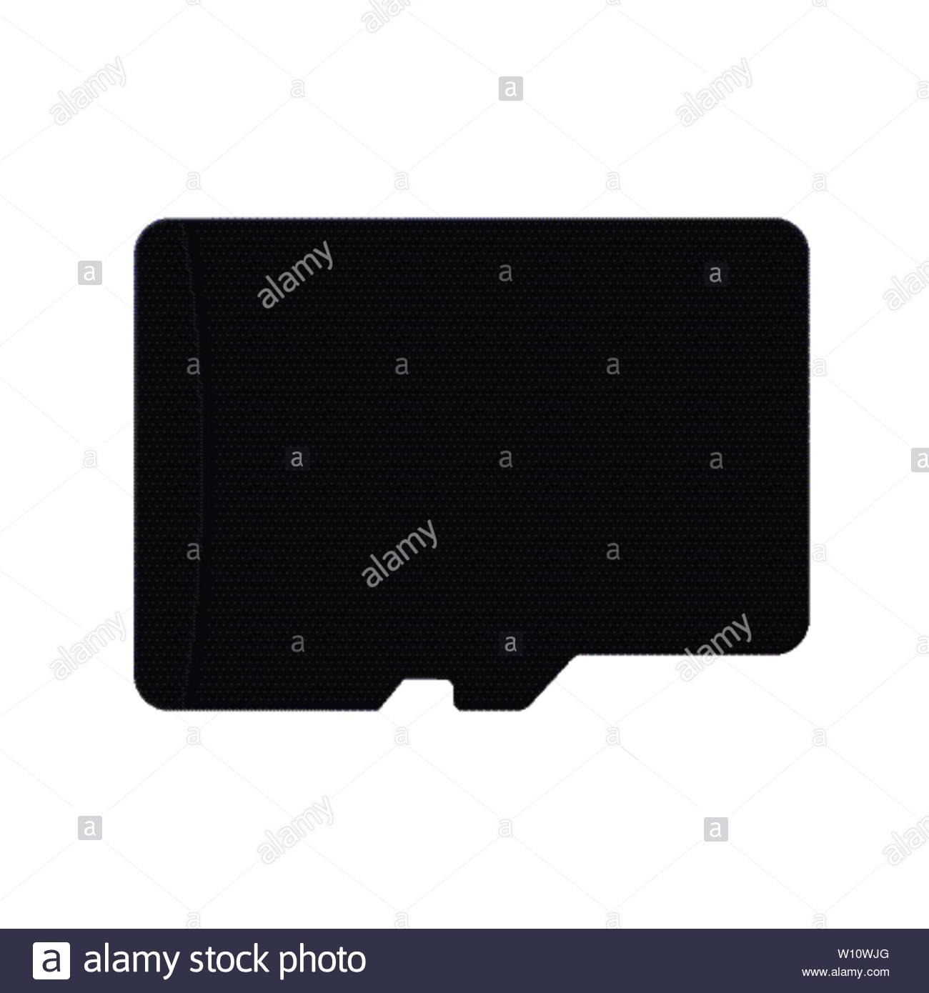 Micro Sd Card Flash Memory Card  Template For Your Design Stock With Ss Card Template
