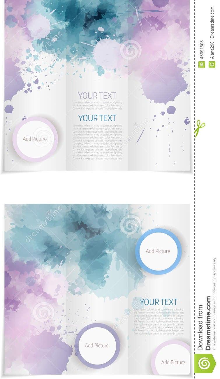 Microsoft Brochure Template Free Tri Fold Paint Splashes Blue In Microsoft Word Brochure Template Free
