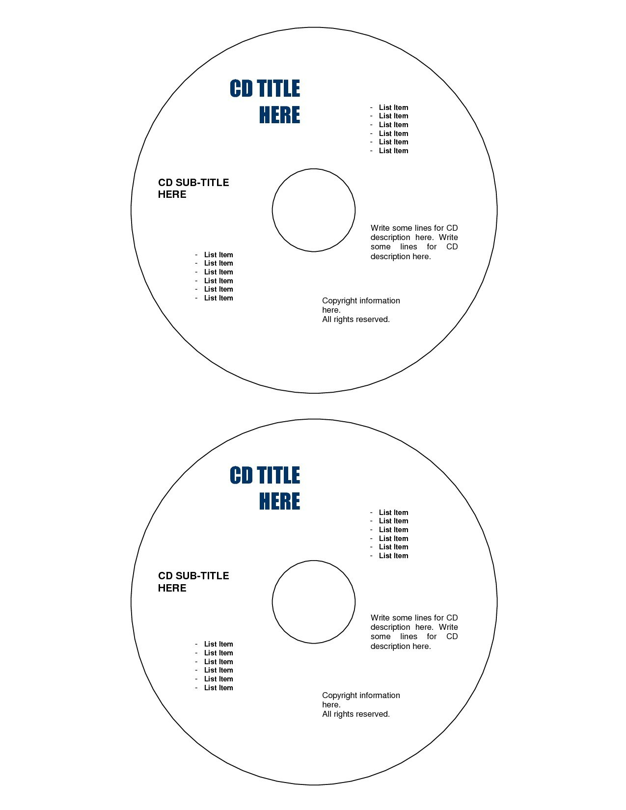 Microsoft Office Cd Label Template   How To Print Cd Labels In For Microsoft Office Cd Label Template
