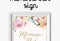 Mimosa Bar Free Watercolor Flowers Printable In   Bridal Shower regarding Free Bridal Shower Banner Template
