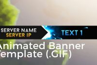 "Minecraft Animated Server Banner Template ""super Dazzle""  Youtube In Animated Banner Template"