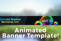 "Minecraft Server Banner Template Gif  ""colorpop"" intended for Minecraft Server Banner Template"