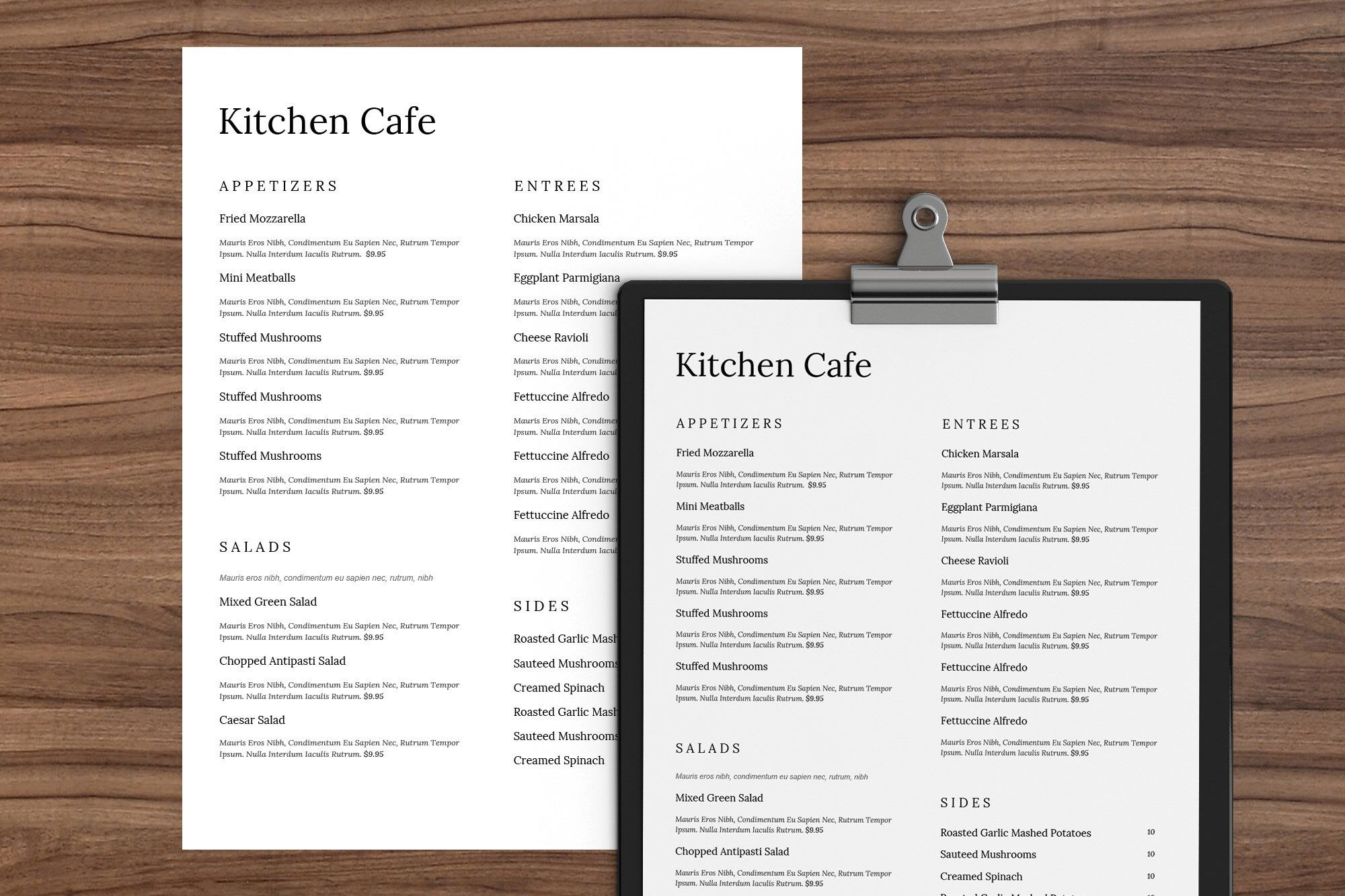 Minimal Word Menu Restaurant Menu Template Restaurant Menu Menu With Menu Template Google Docs