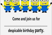 Minion Animated Birthday Card Template Diy Printable Envelopes within Minion Card Template