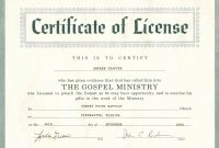 Minister License Certificate Template  Template Modern Design with regard to Ordination Certificate Templates