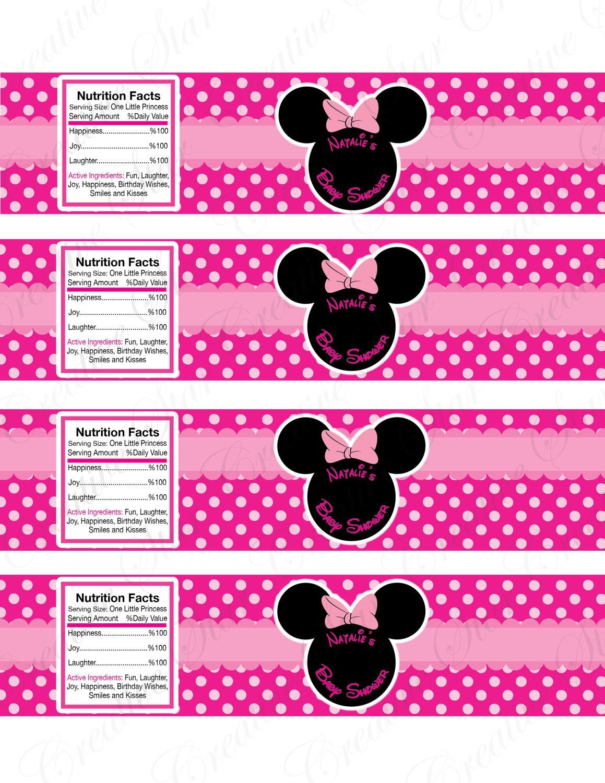 Minnie Mouse Water Bottle Labels Pelautscom  Places To Visit Intended For Minnie Mouse Water Bottle Labels Template