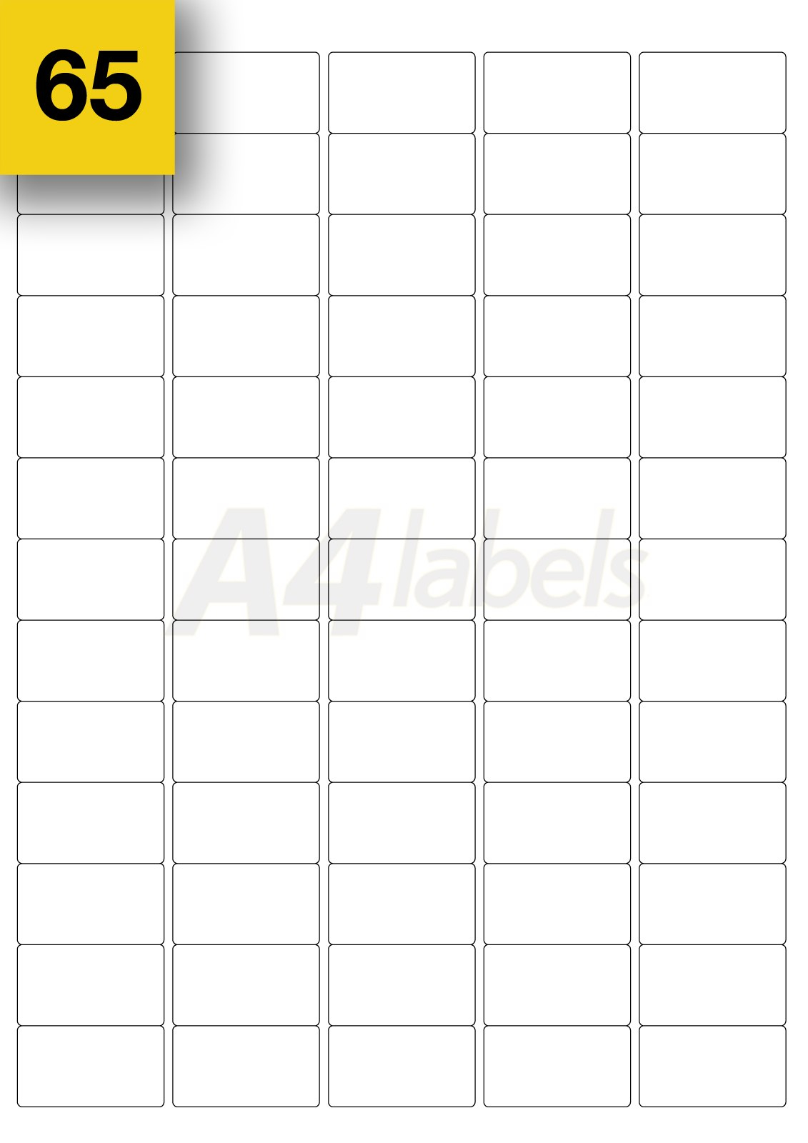 Mm X Mm White Sticky Mini Address Labels Self Adhesive Intended For Label Template 65 Per Sheet