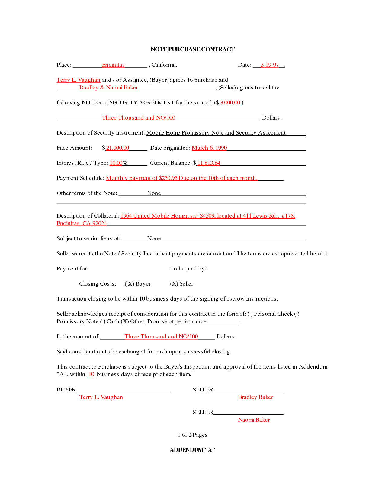 Mobile Home Purchase Agreement Template  Fascinating Ideas Intended For Mobile Home Purchase Agreement Template