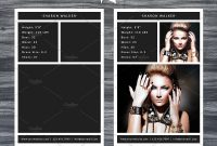 Model Comp Card Template Receiveguidepsdlayered  Backgrounds within Comp Card Template Psd