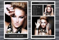 Model Comp Card Template with Free Model Comp Card Template Psd