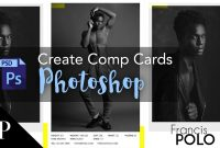 Model Comp Card With Adobe Photoshop  Free Template  Youtube in Free Zed Card Template