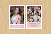 Model Comp Card  Zed Card Collections On Behance within Zed Card Template Free