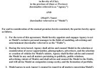 Modeling   A Model's Diary Wanna See What A Modeling Contract inside Talent Agency Agreement Template
