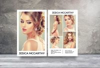 Modeling Comp Card  Fashion Model Comp Card Template  Photoshop throughout Zed Card Template Free